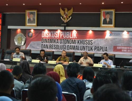 Diskusi Publik Dinamika Otonomi Khusus dan Resolusi Damai Untuk Papua