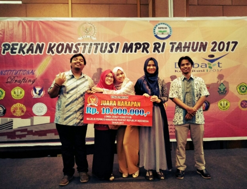 Faculty of Law UB Delegation Won the Champion of Hope at the Constitution Debate Competition MPR RI 2017