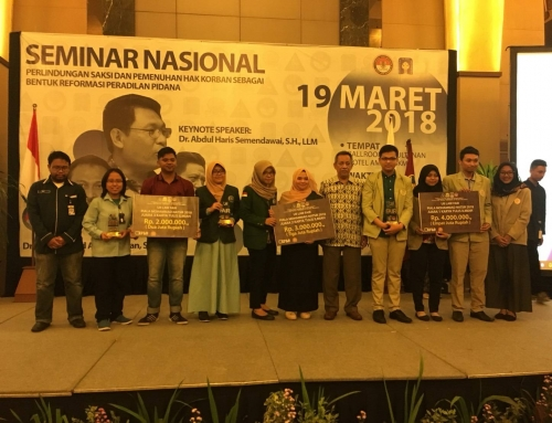 Juara 3 Lomba Karya Tulis Ilmiah Piala Mohammad Natsir UII Law Fair 2018