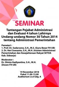 Seminar Administrasi Pemerintahan