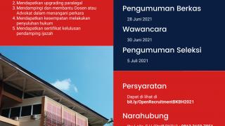 Read more about the article Rekrutmen Online Paralegal Angkatan IX BKBH Tahun 2021
