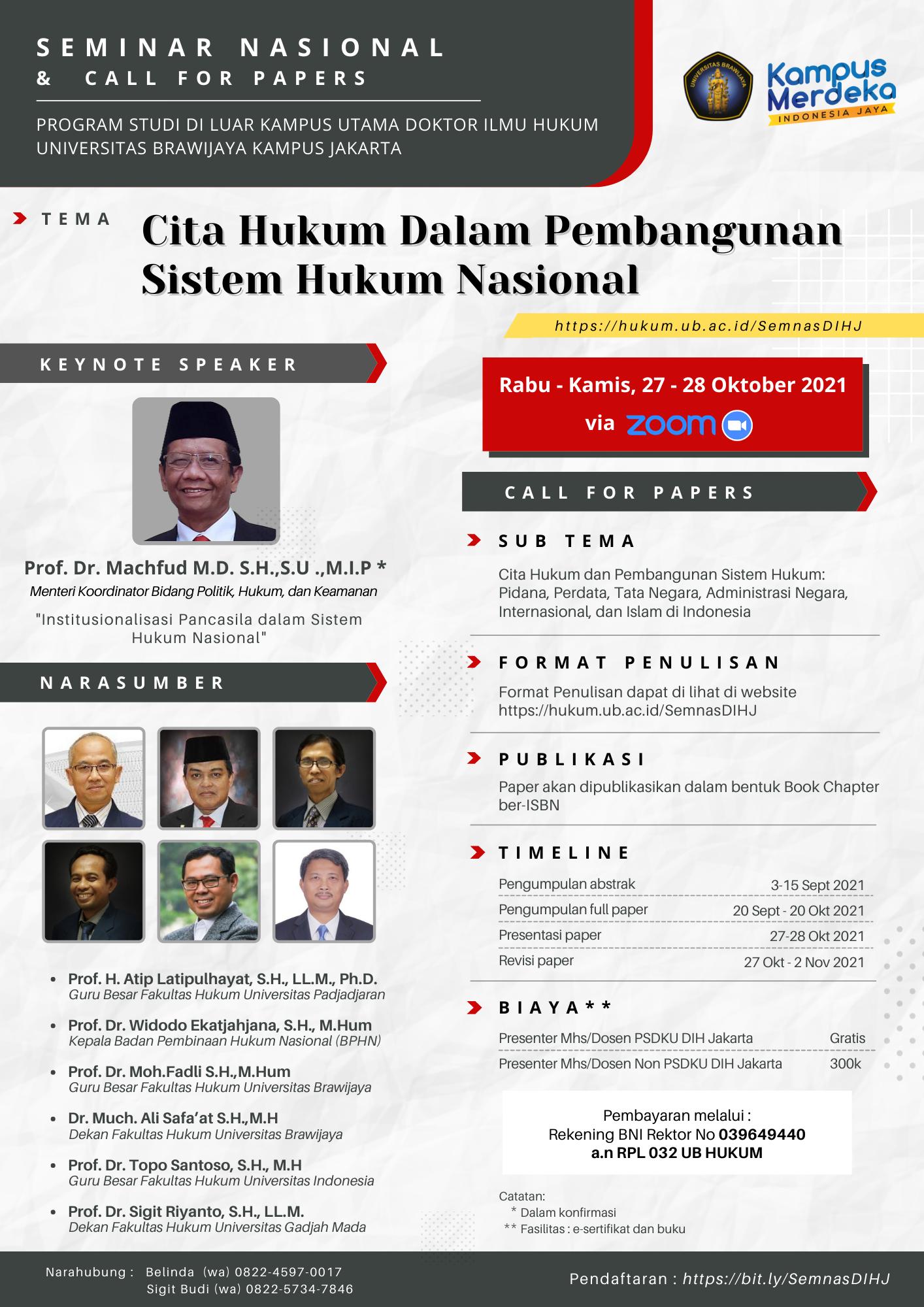 You are currently viewing Seminar Nasional dan Call for Papers Program Doktor Ilmu Hukum Kampus Jakarta